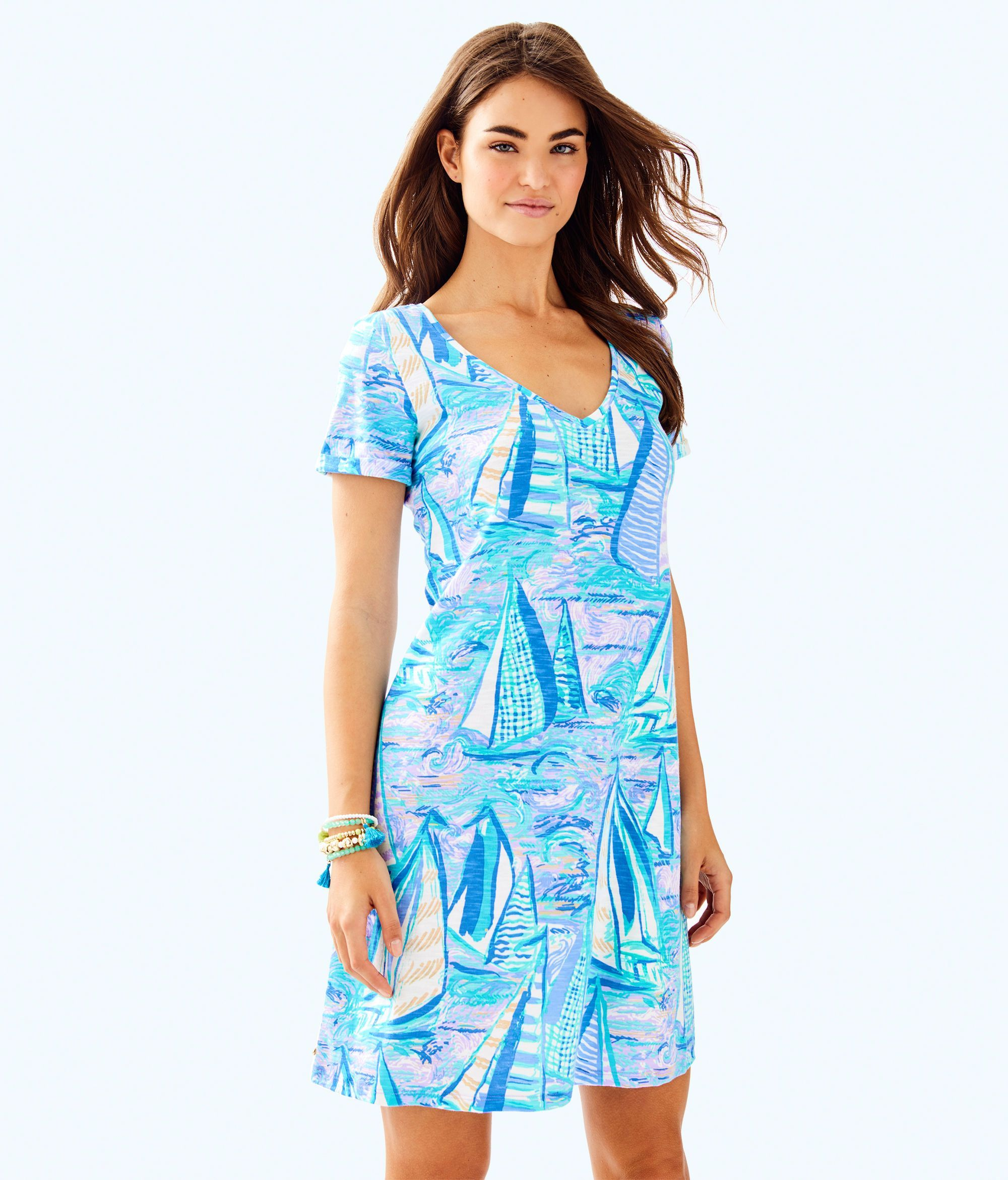 1bf622feced659 Lilly Pulitzer Jessica Short Sleeve Dress - Light Lilac Verbena Aboat Time