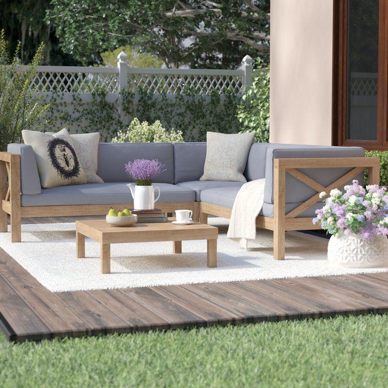 Salon De Jardin Modulaire Avec Coussins 4 Pieces Ellison Meubles