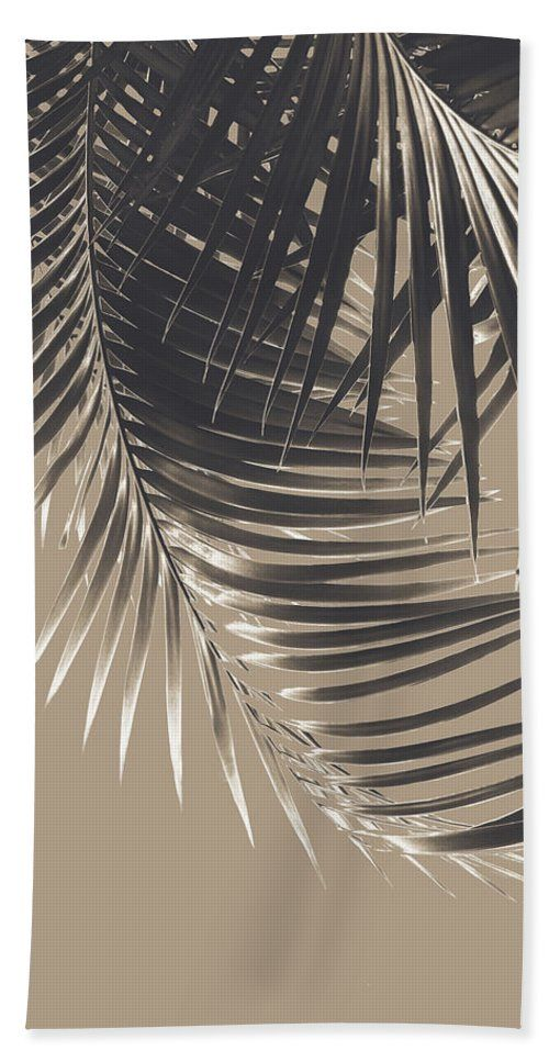 Palm Leaves Sepia Vibes #2 #tropical #decor #art Beach Towel for Sale by Anitas and Bellas Art