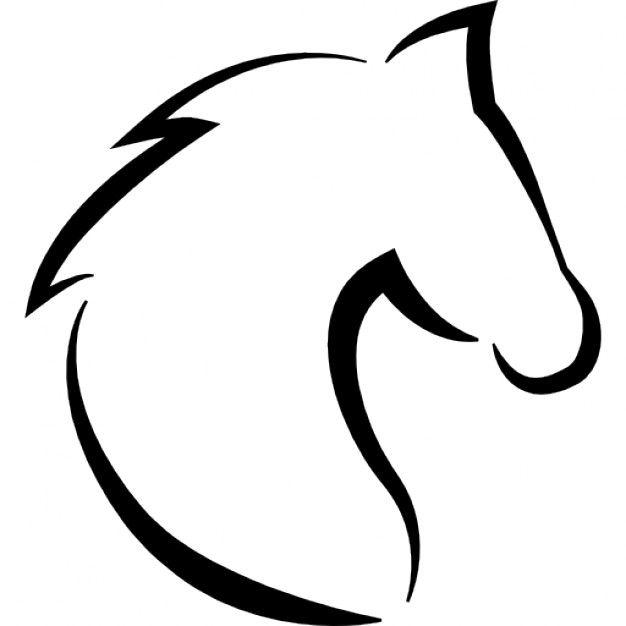 Vorlage Pferd, Pferdekopf | Vorlagen - Templates - Schablonen ...