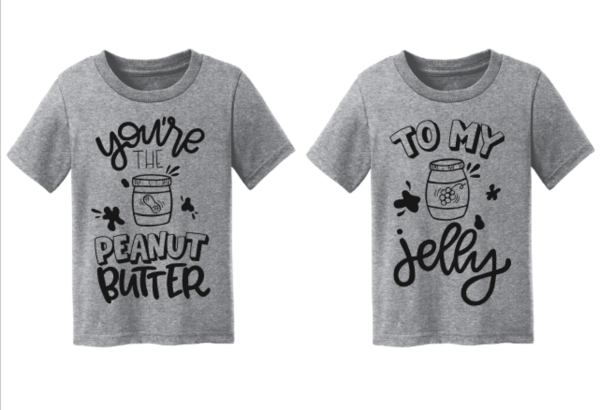 44bc3d9820d6 You're the Peanut Butter to My Jelly Matching Sibling Best Friend  Announcement Shirts