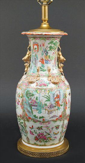 A Chinese Famille Rose Porcelain Lamp. : Lot 1703341
