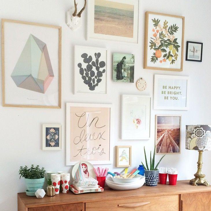 gallery wall, wall art, art prints, dining room, decor ...