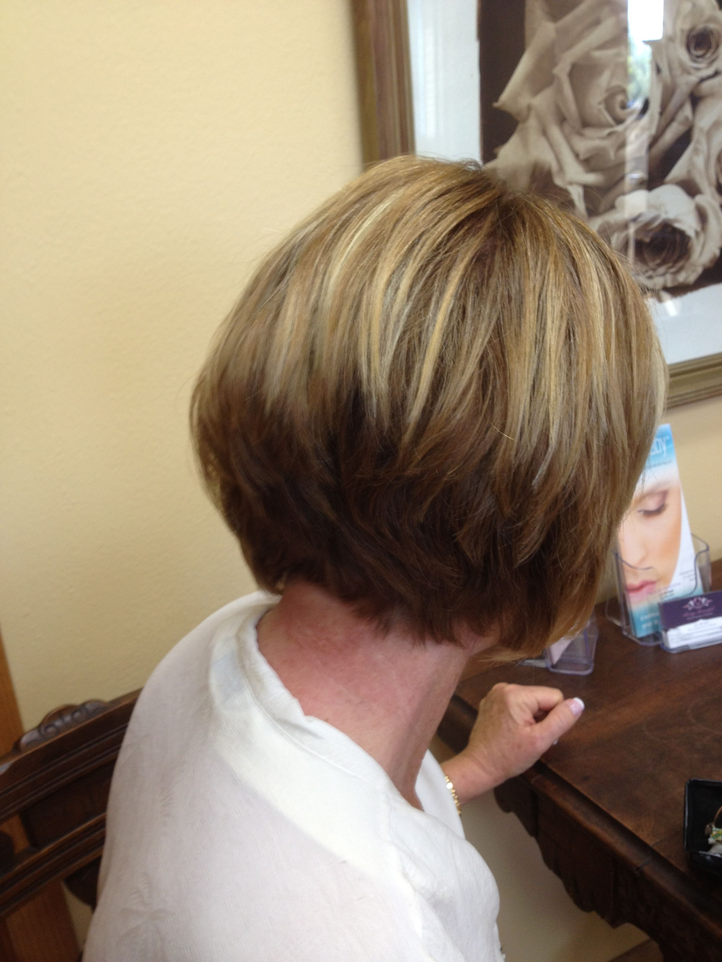 Stacked bob by Leslie Minnix owner of