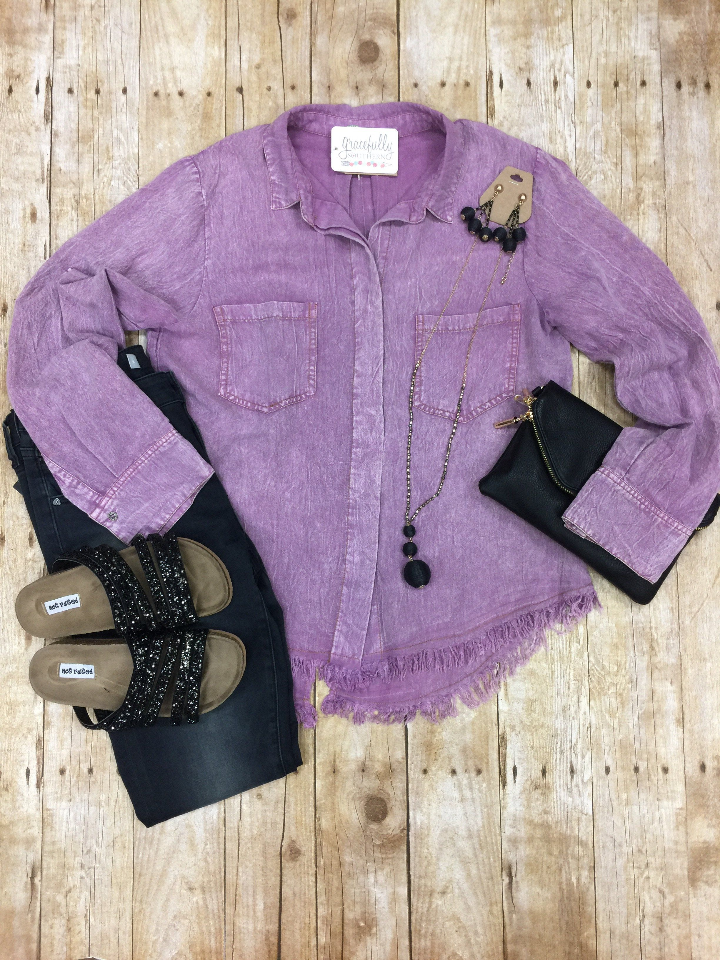 Great Escape Chambray Top
