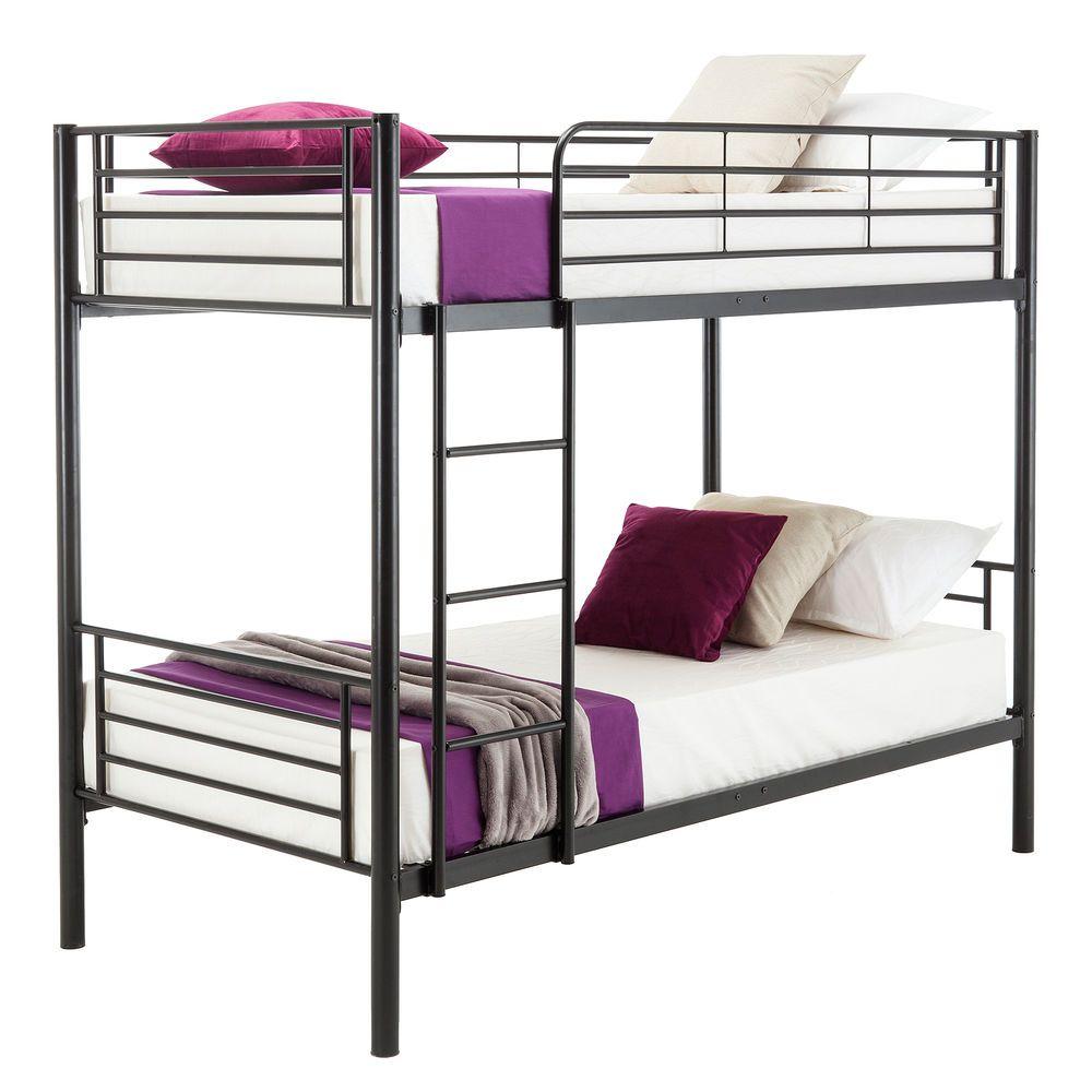 Metal Twin Over Twin Bunk Beds Frame Ladder Bedroom Dorm For Kids Adult Children Uenjoy Modern Metal Bunk Beds