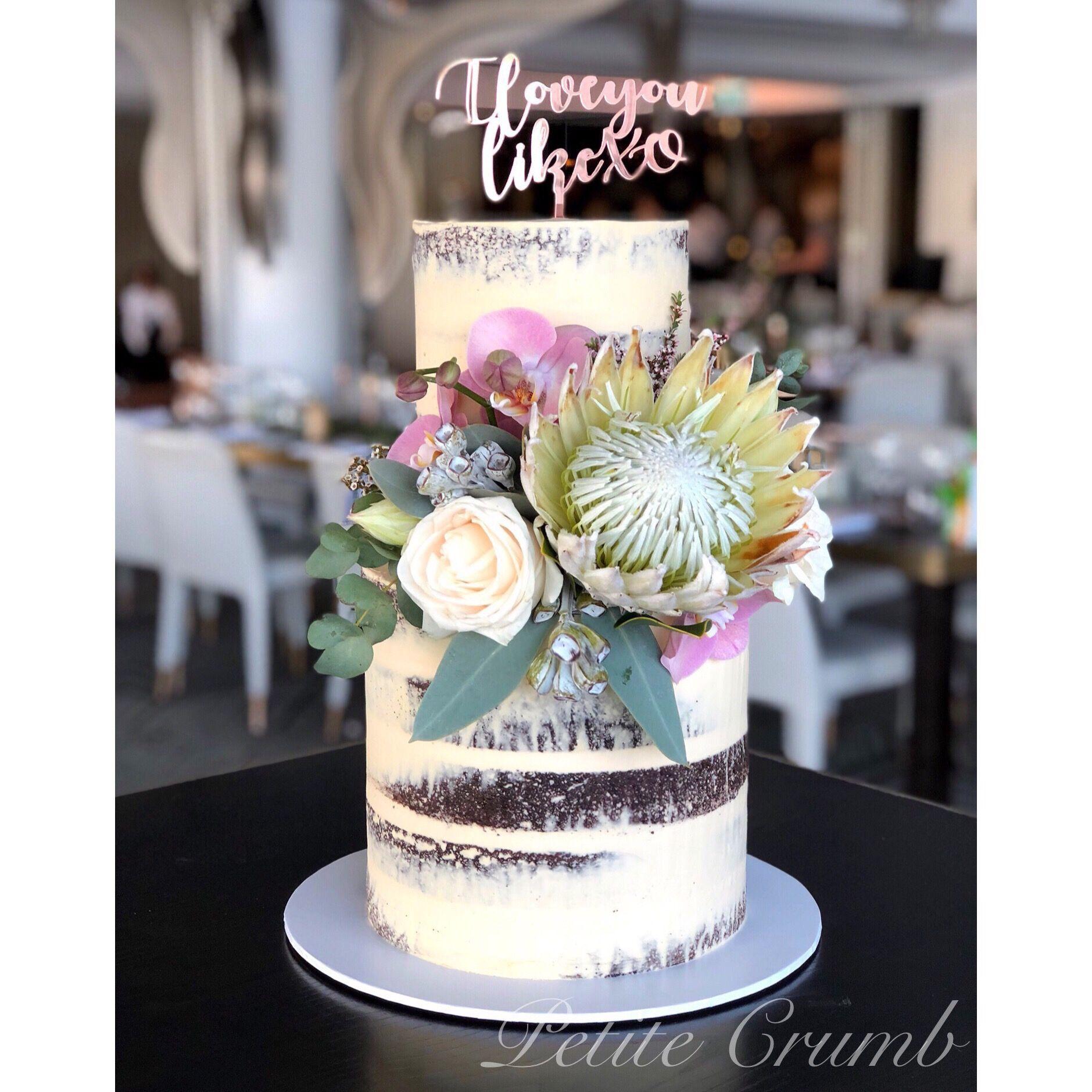 Semi naked wedding cake two tier wedding cake pinterest cake