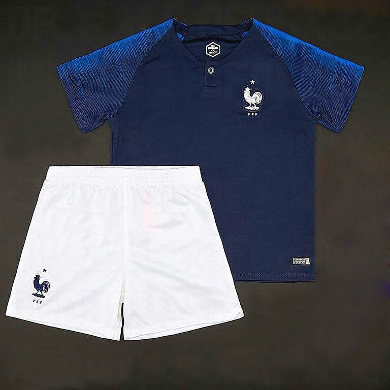 Kids 2018 France World Cup Home Kit  389f81ad0