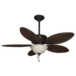 Hunter 54 in grand cayman onyx bengal damp rated ceiling fan with hunter 54 in grand cayman onyx bengal damp rated ceiling fan with light kit mozeypictures Image collections