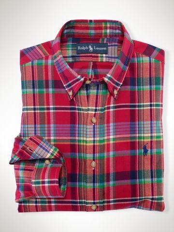 6d1ac651 Röd casualskjorta från RL - 90 $ Plaid Flannel, Flannel Shirt, Ralph  Laurent,