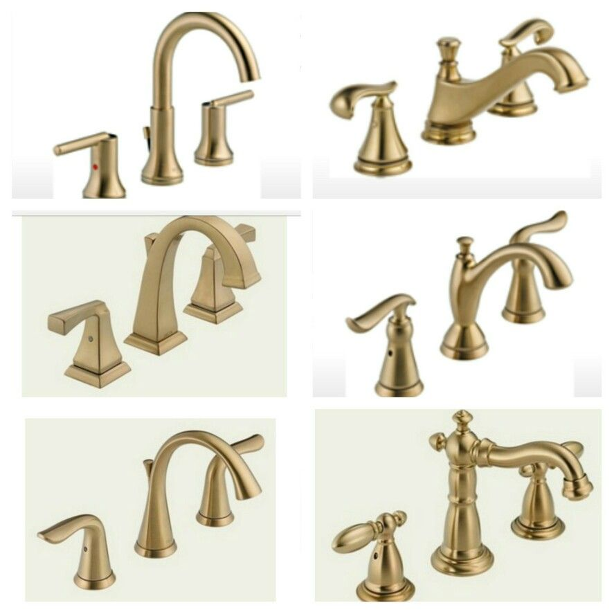 Delta Faucet options in Champagne Bronze  Small bathrooms  Gold bathroom faucet Brass