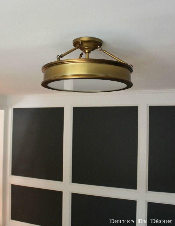 House Tour Home Office Ceiling Lights Industrial Farmhouse Decor Semi Flush Ceiling Lights