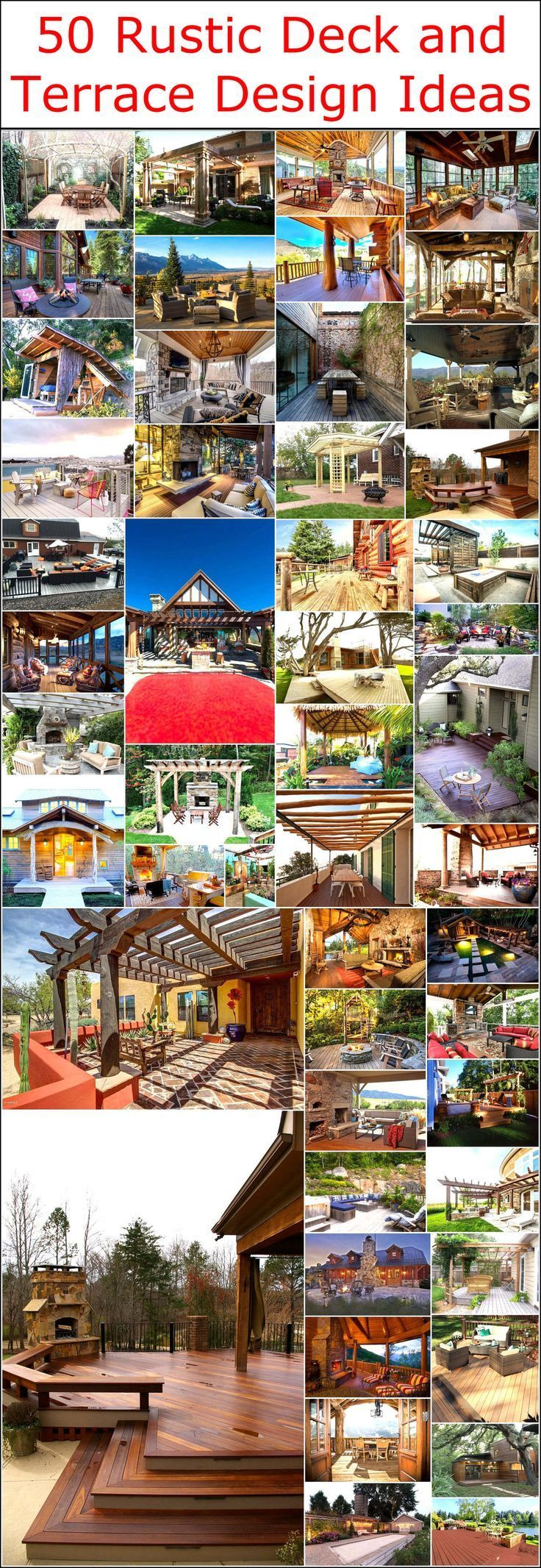 rustikale Deck und Terrasse Design-Ideen   - We Heart Rustic-#balkoni