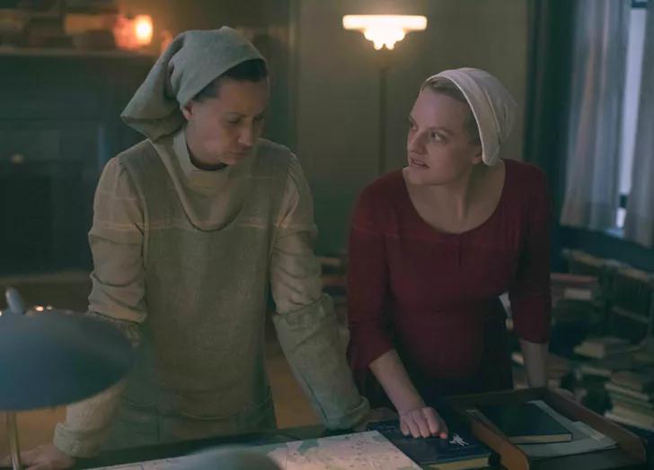 June And Beth Handmaids Tale The Handmaid S Tale Series Tales Season Premiere