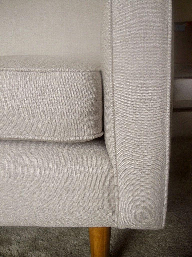Belgian Linen Oatmeal Upholstery Fabric Living Room Upholstery