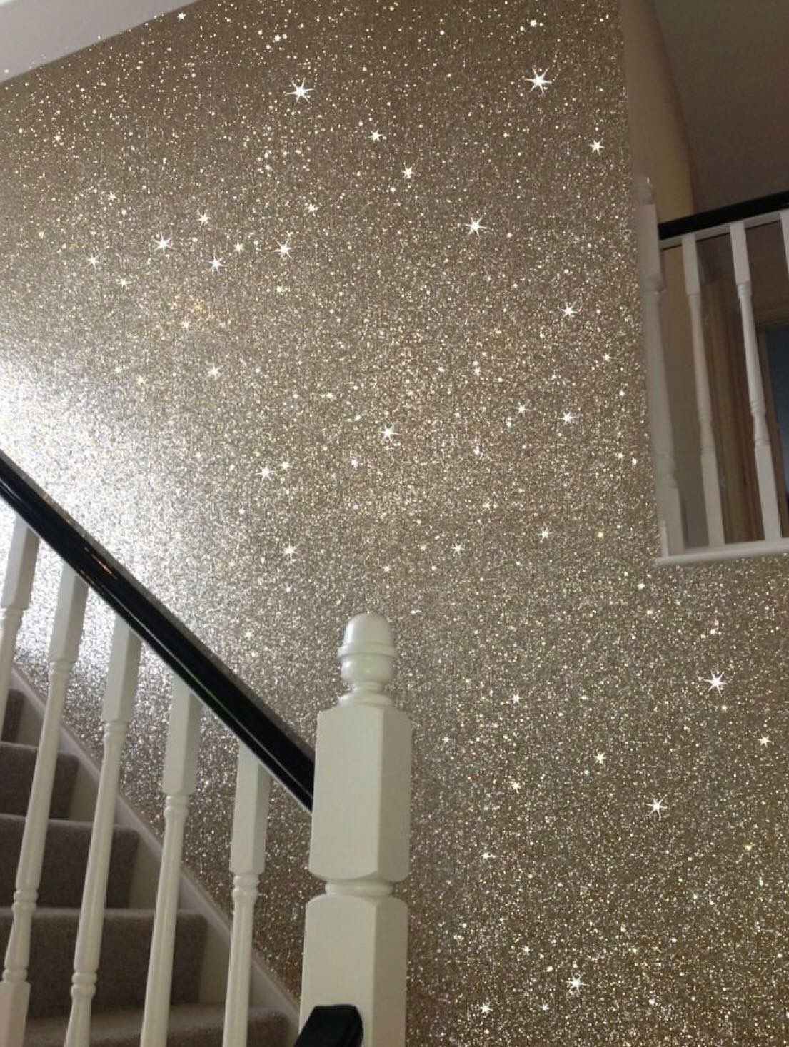 At least one wall in our house will be this way #GlitterGrout #glittergrout