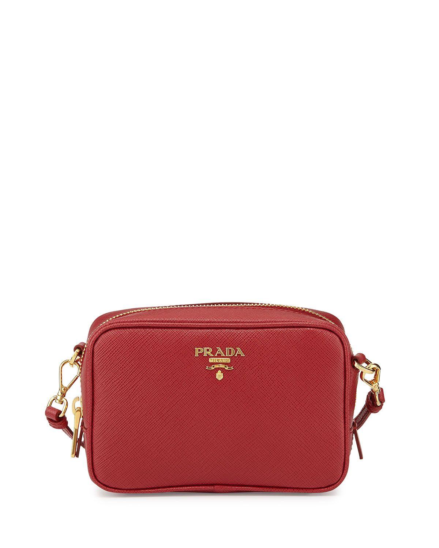 5d9dc2b92b0f Saffiano Mini Zip Crossbody Bag Red (Fuoco) | *Handbags, Wallets ...