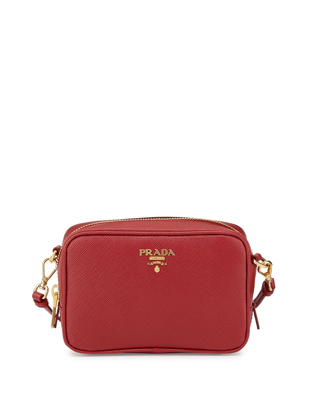 42601a14f785 Saffiano Mini Zip Crossbody Bag Red (Fuoco)   *Handbags, Wallets ...