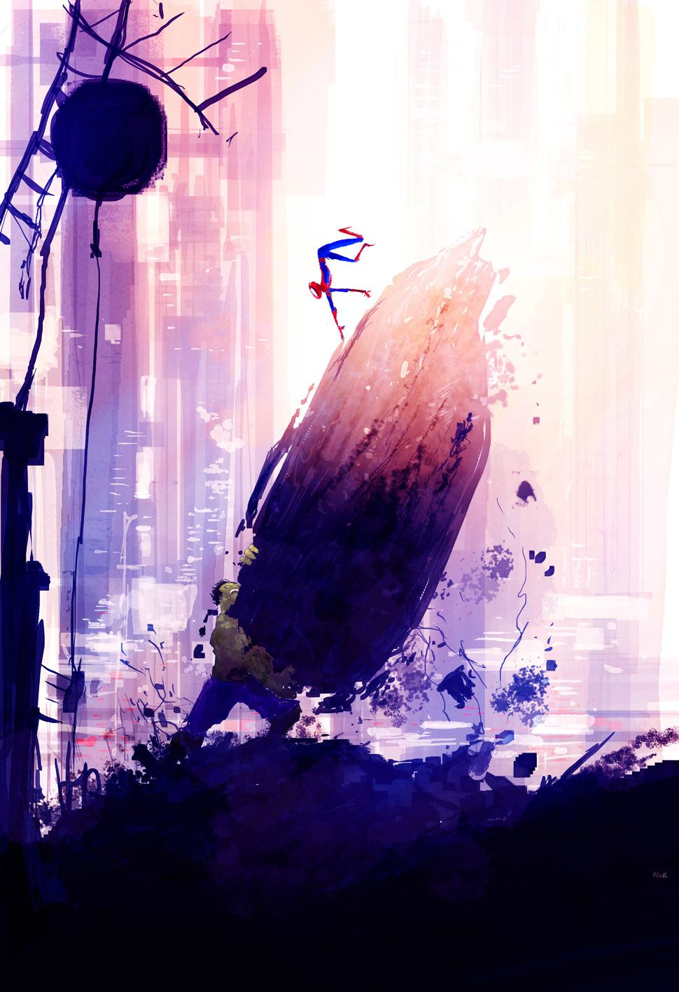 Super Heroic Sky Lines By Pascal Campion Hombre Araña