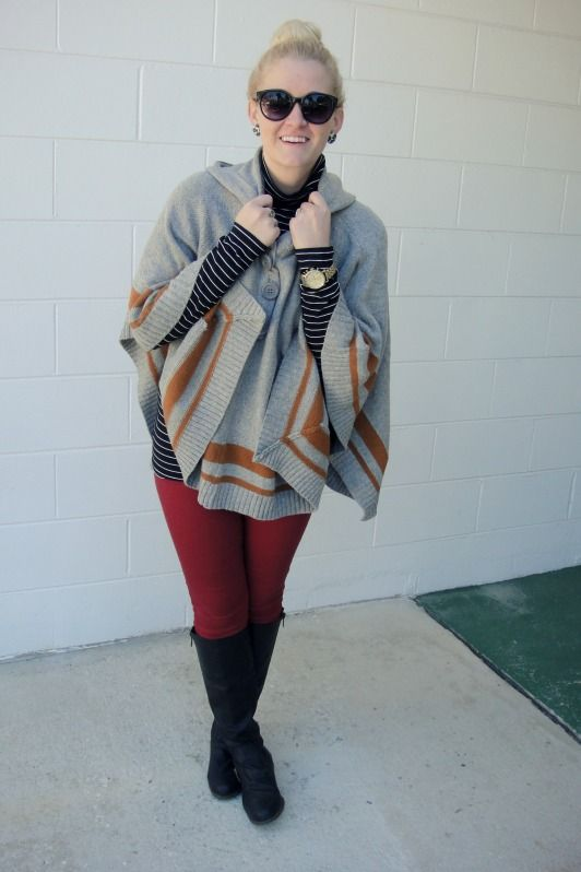 poncho and top knot