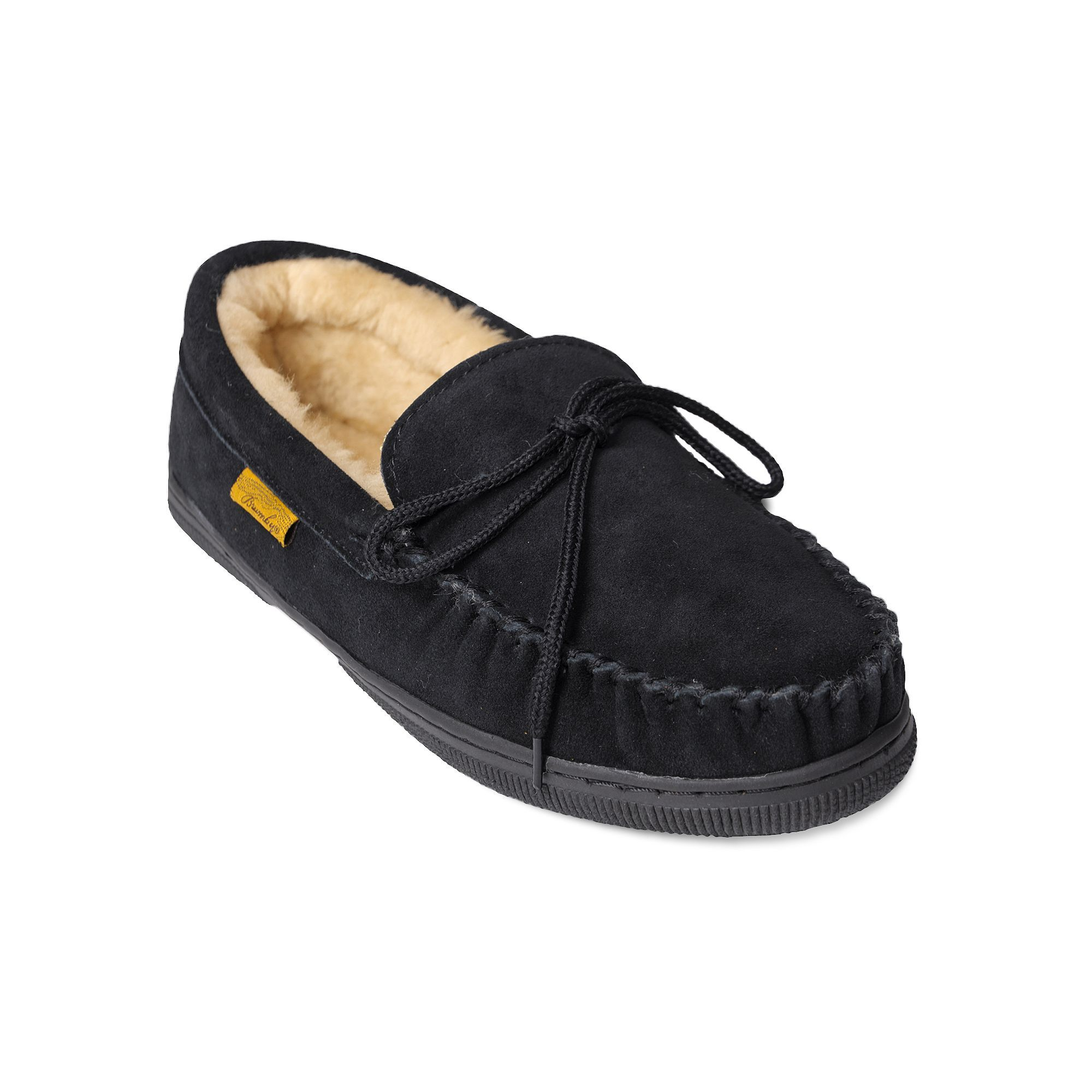 Brumby Mens Moccasin Slippers Size medium 10 Black