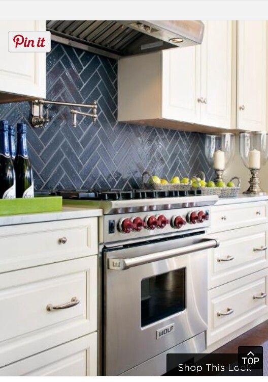 Cabinet Design Stove Tile Pot Filler Above Stove