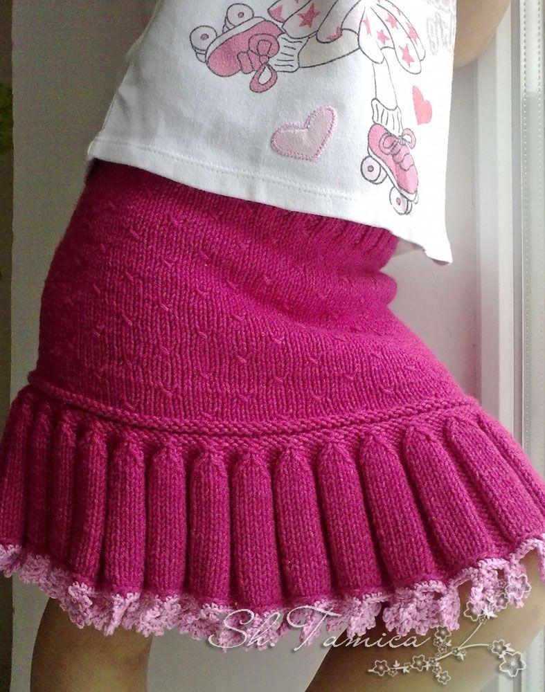 Платья юбочки для девочек спицами