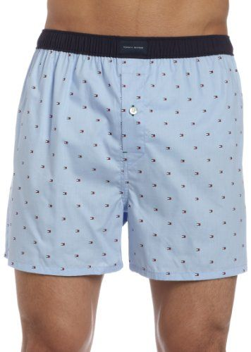 Tommy Hilfiger Men's Micro Flag Printed Boxer, Covington Blue, Large « Impulse Clothes