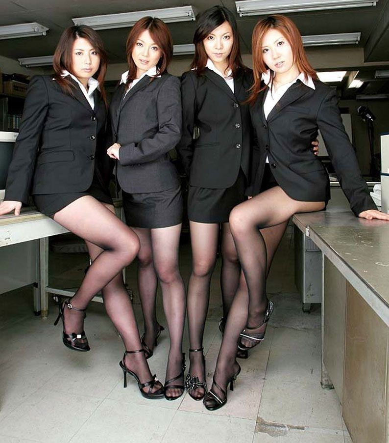 Japanese Office Pantyhose