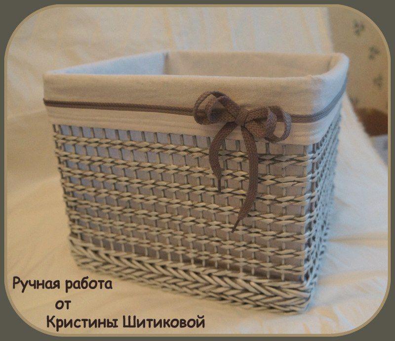 Плетение из газеты своими руками фото 482