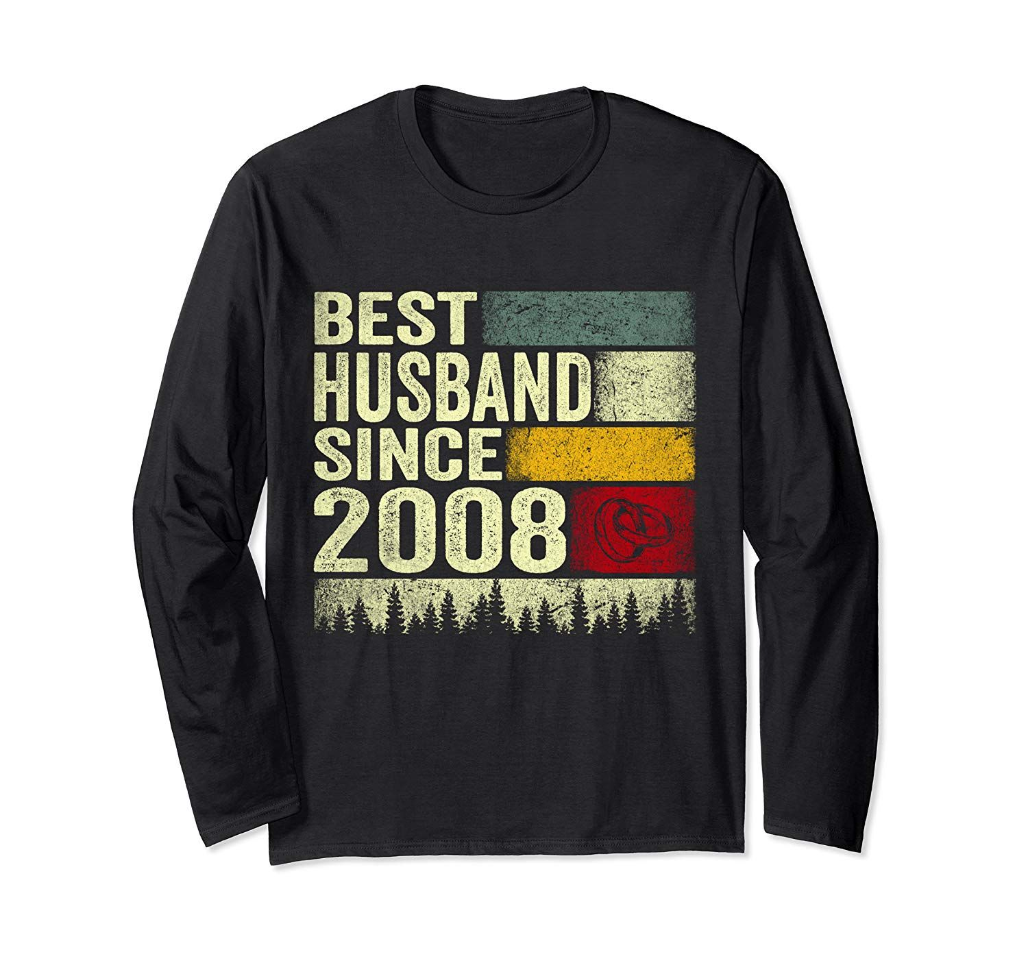 11th Wedding Anniversary Since 2008 Gift Long Sleeve T
