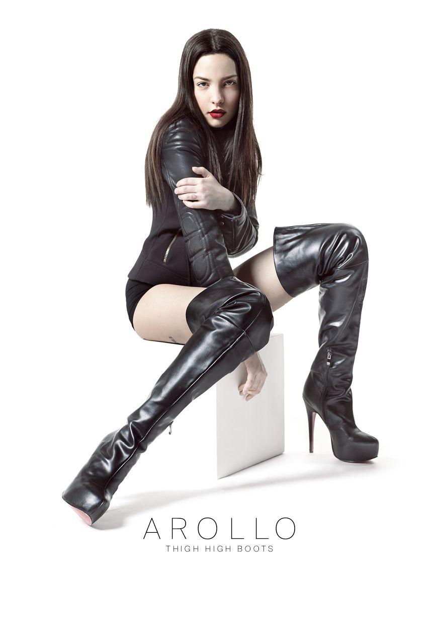 Arollo Leather Heeled Boots E064a8d4e27b5ef2821b893f506e72b5