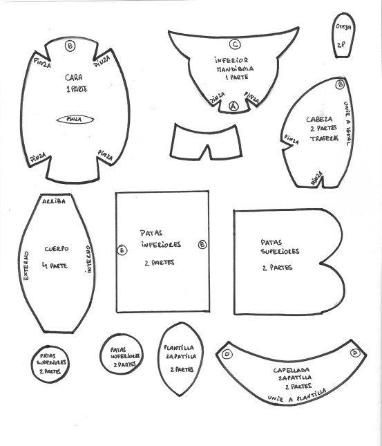 Moldes para sombreros de goma espuma - Imagui  e42e43a5377