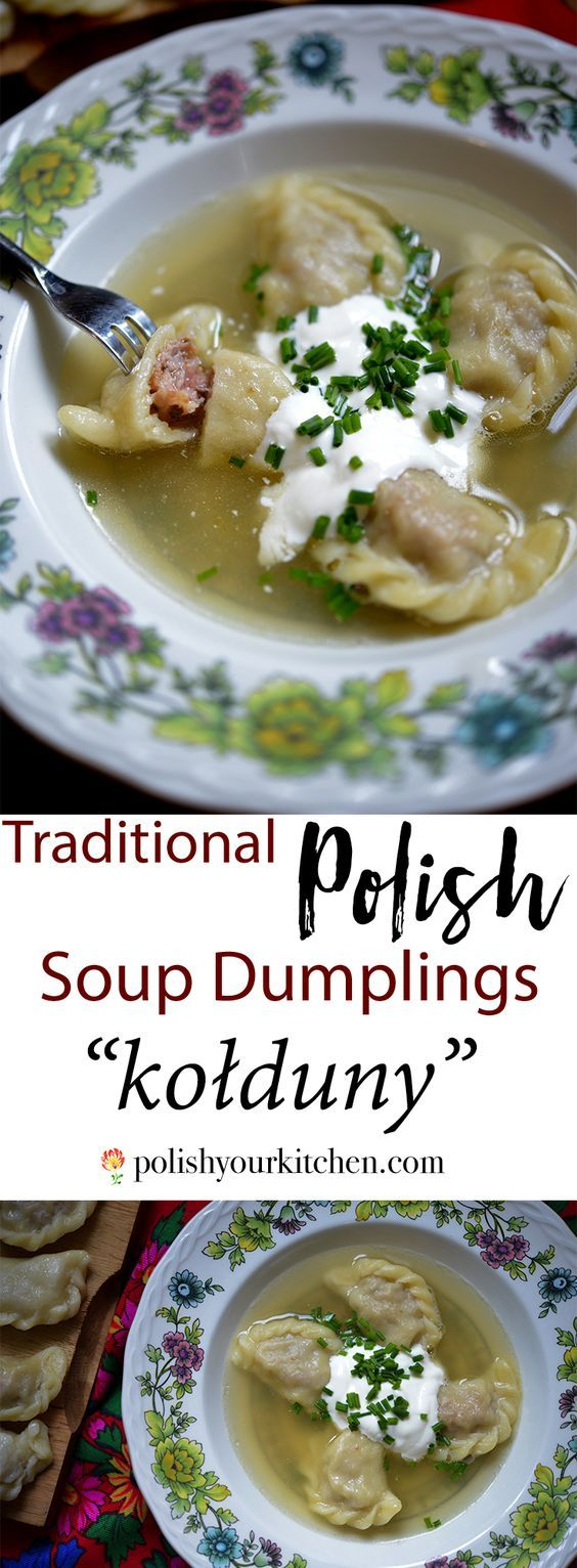 "Photo of Traditional Polish Soup Dumplings Recipe ""Kołduny"" by polishyourkitchen…"