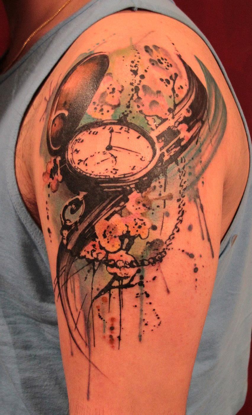 Pocket watch done by gene coffey at tattoo culture in for Brooklyn tattoo ideas