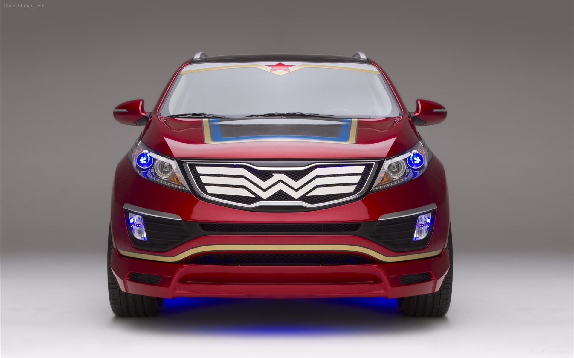 Wonder Woman inspired Sportage front view
