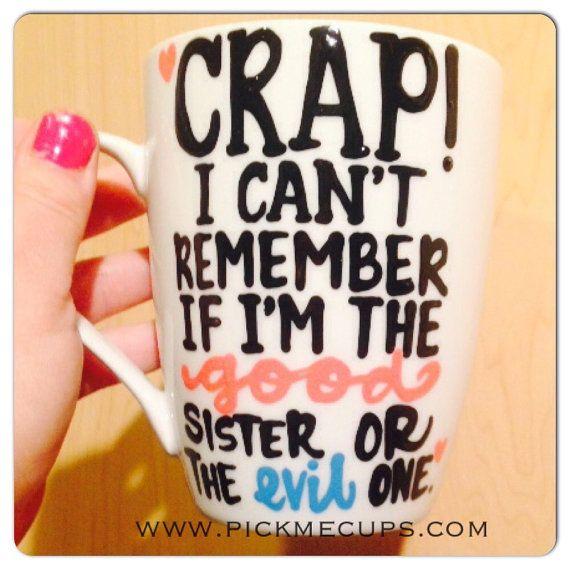 Sister mug good sister evil sister funny valentines valentines day mug - youre…