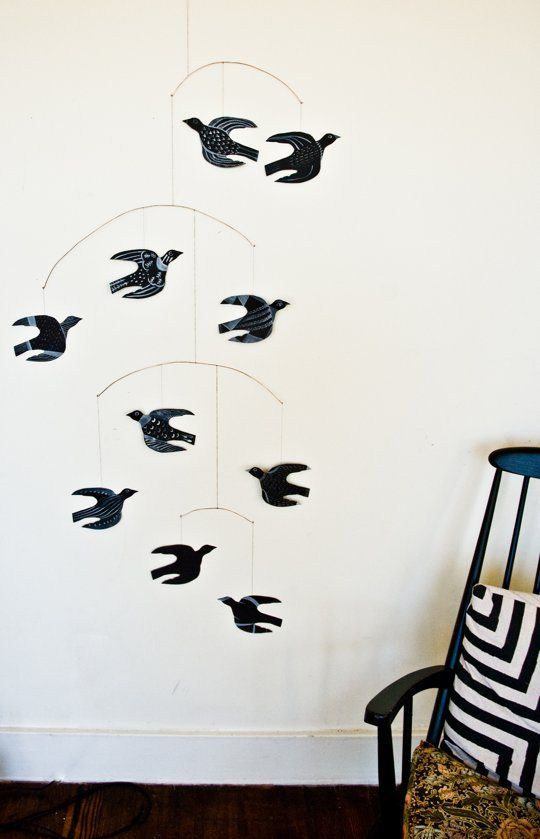 Try This Diy Art Project How To Make A Handmade Bird Mobile Diy