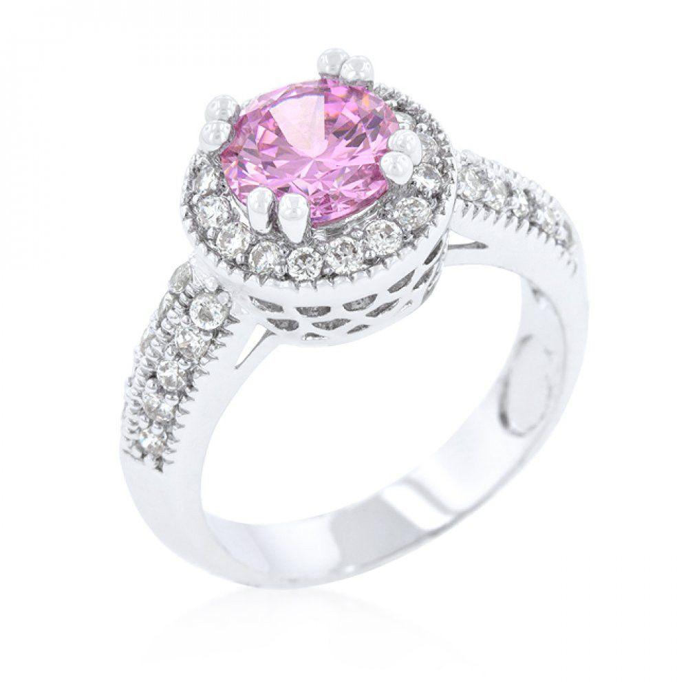 Pink Halo Engagement Ring Pink halo engagement ring, Art