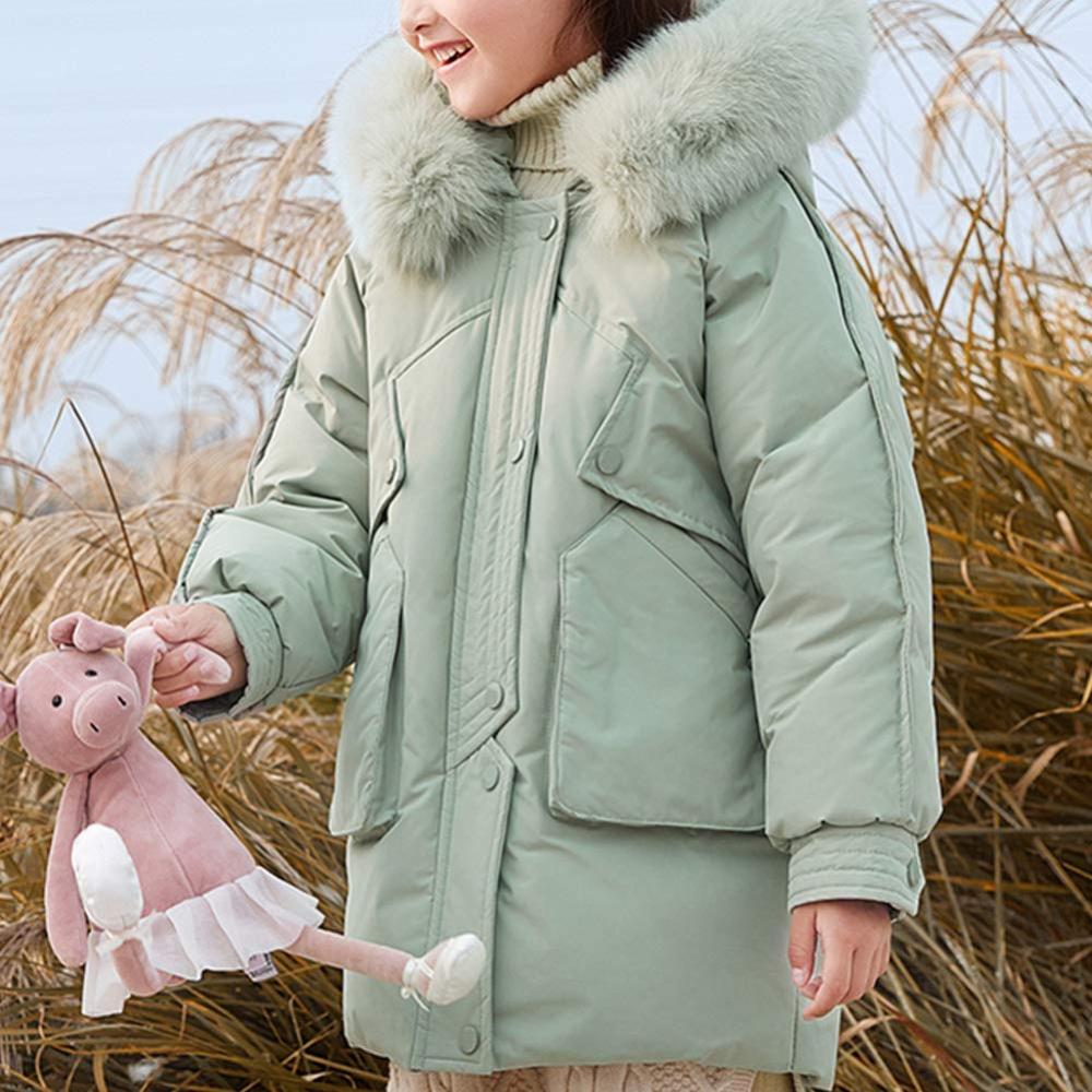 Sizes 7-16 Lisa-Rella Girls Down Coat with Fur Trim