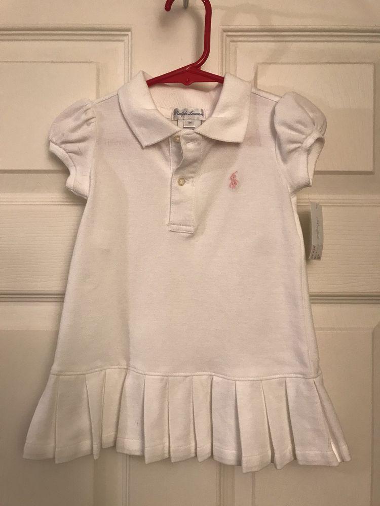 37634b10 Infant / Baby Girls 2 Piece Ralph Lauren White Dress 9 Months Old ...