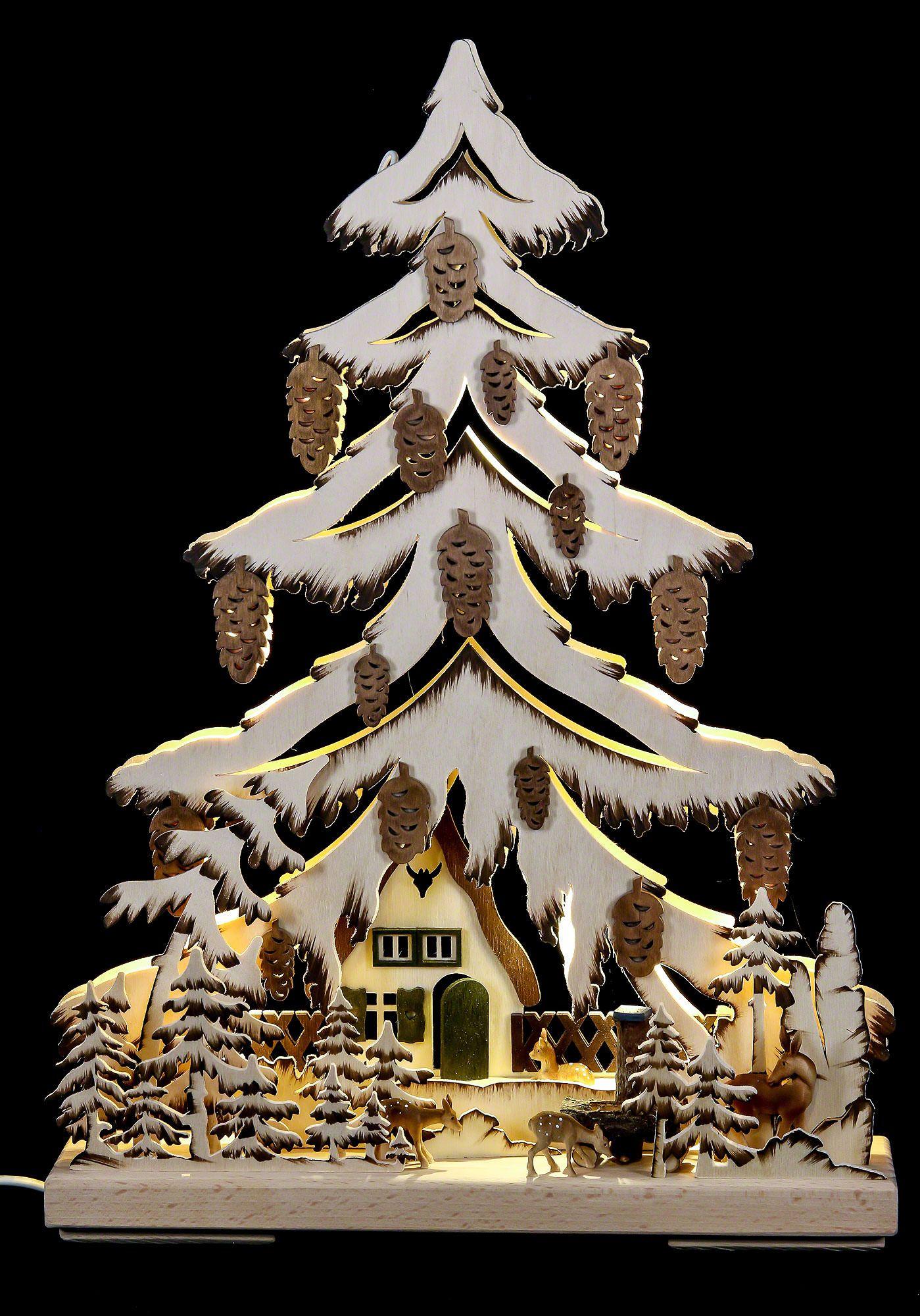 lichterspitze am waldhaus 32 44 cm weihnachtsb ume und. Black Bedroom Furniture Sets. Home Design Ideas