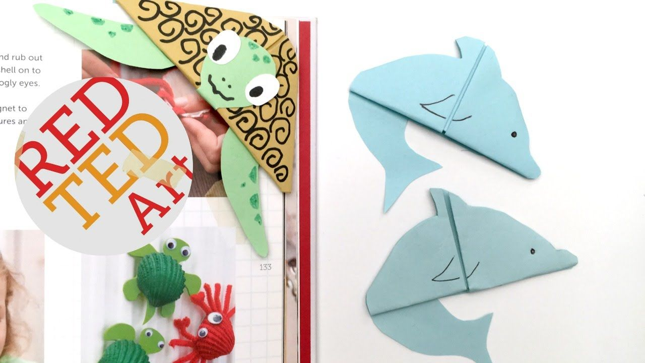 Easy Dolphin Bookmark Paper Crafts Bookmarks Bookmarks