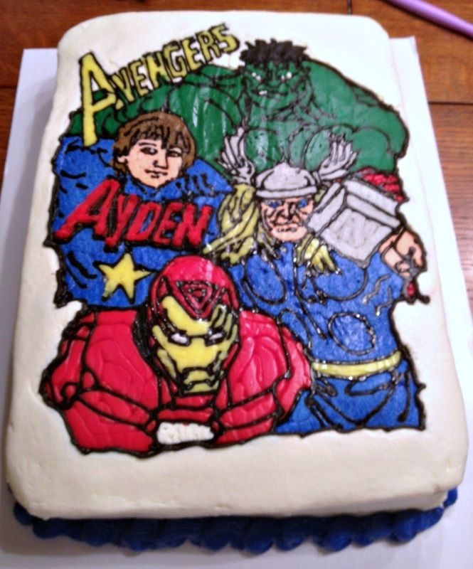 Outstanding Free Download Pics Of Birthday Cakes For Boys Avengers Avengers Personalised Birthday Cards Bromeletsinfo