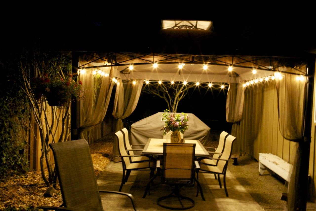 Nice ... Outdoor Gazebo Lighting Ideas U2026 17 Images About Pergola Acoperita On  Pinterest Hot Dogs Light