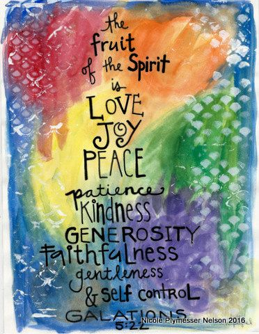 Fruits of Spirit Galations 5:22 llustrated Watercolor Prints