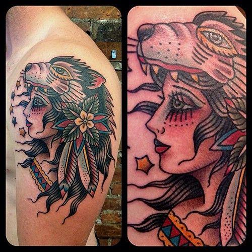 Pin On Animal Headdress Tattoo