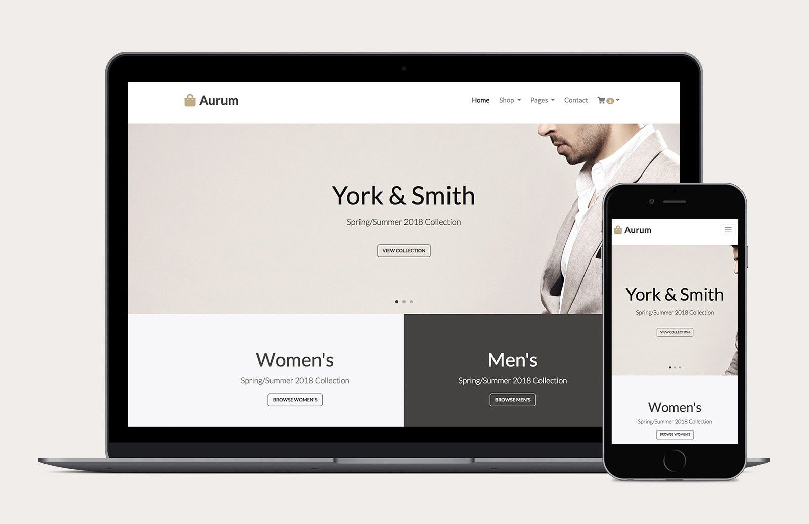 Aurum Free Bootstrap 4 Ecommerce Template Ecommerce Template Website Inspiration Free Ecommerce