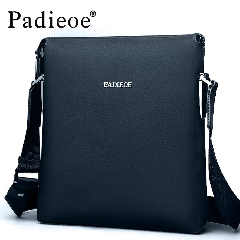 Padieoe 2016 Best quality men's shoulder messenger bags genuine ...