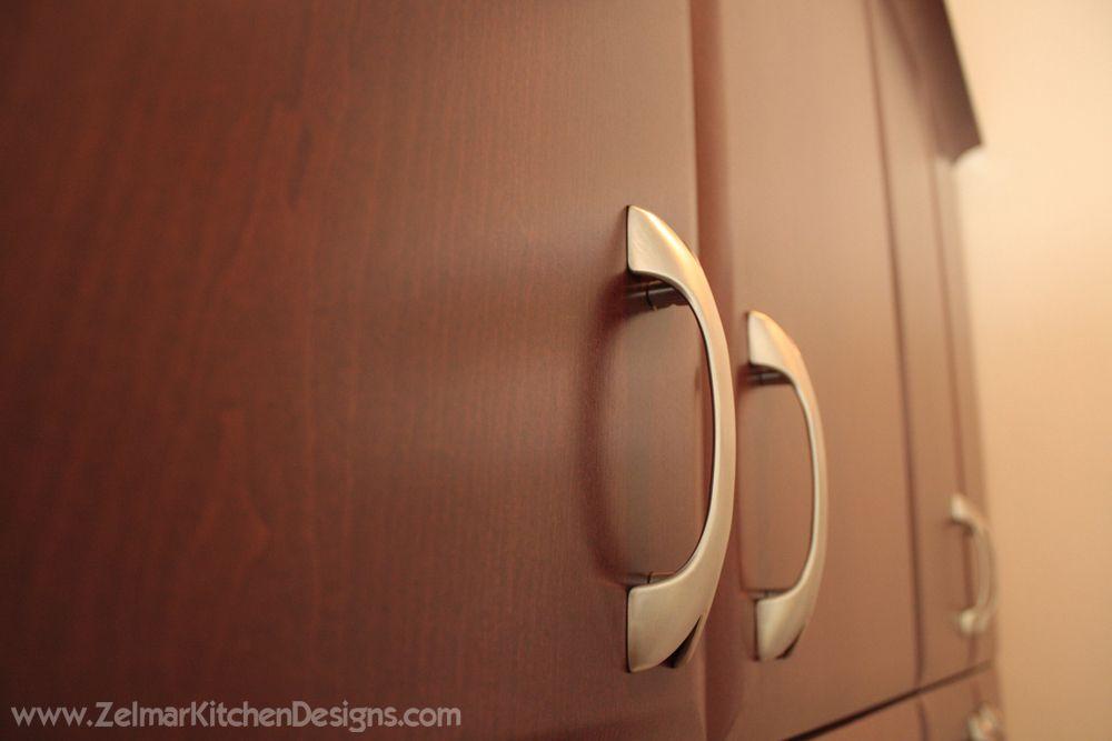 Contemporary Kitchen Cabinet Doors. Custom with huge handles.  Visit https://www.zelmarkitchendesigns.com for more design ideas.